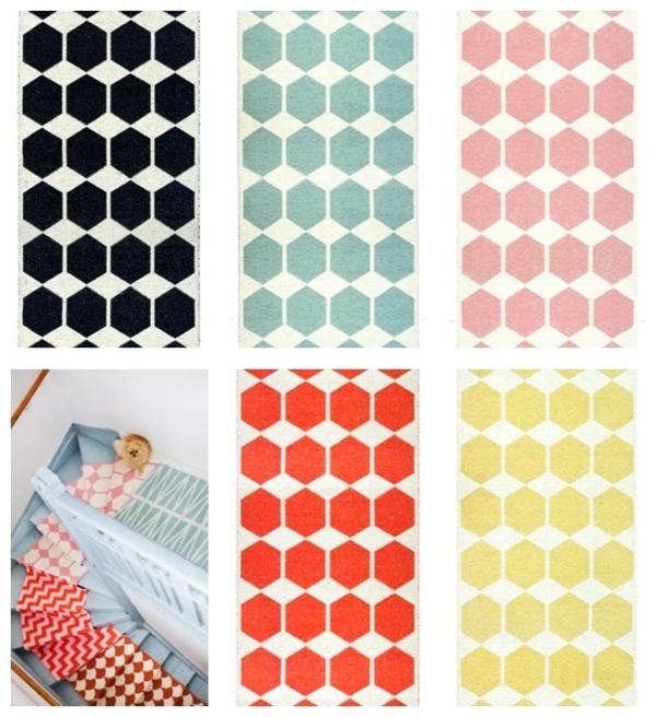 Anna plastikteppich Brita Sweden designer teppiche muster