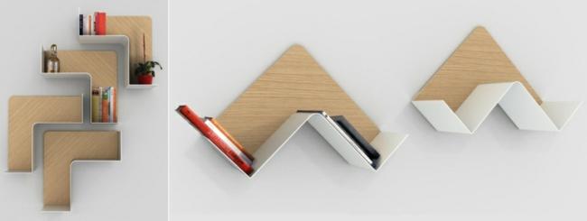 Bücherregal design wand  Designer Regale: