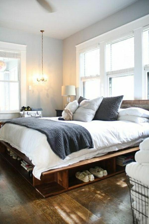 DIY Betten aus Holzpaletten rustikal vintage design