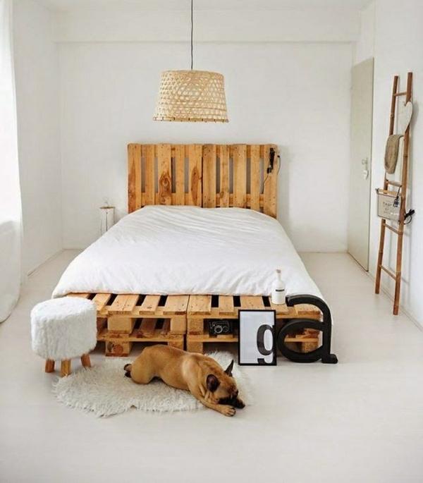 DIY Möbel aus Paletten diy bett selber bauen