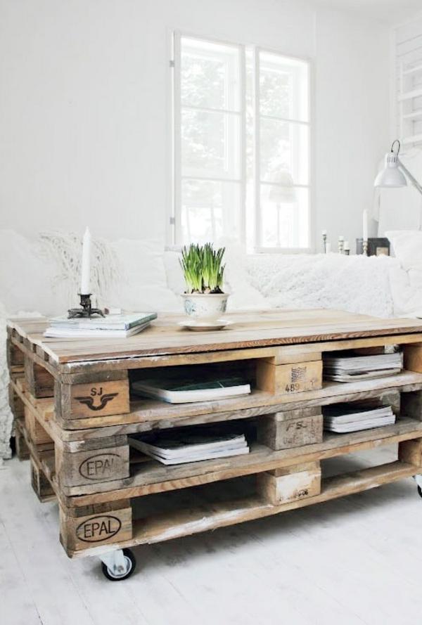 DIY Möbel aus Paletten diy couchtisch wohnzimmertische
