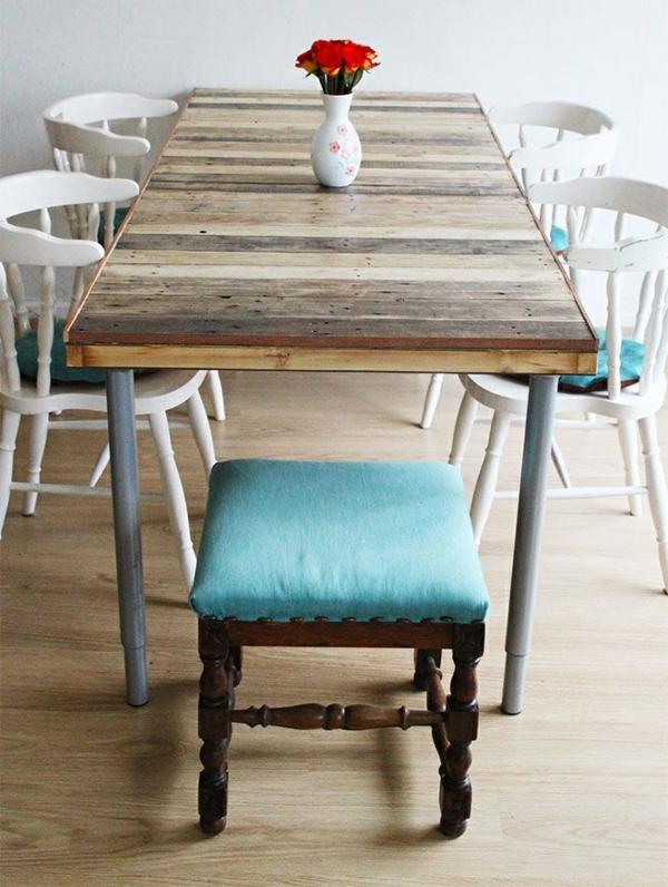 DIY Möbel aus Paletten diy esszimmertisch selber machen ideen