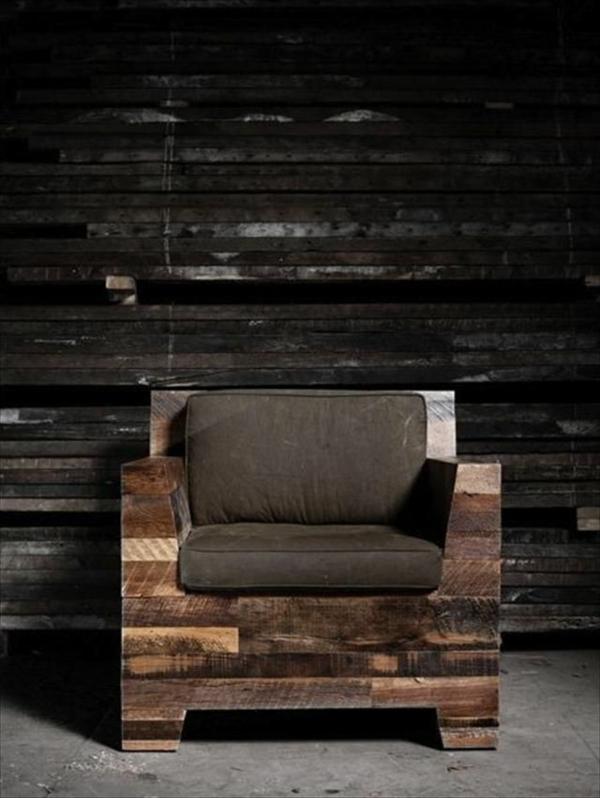 DIY Möbel aus Paletten holz sessel selber bauen