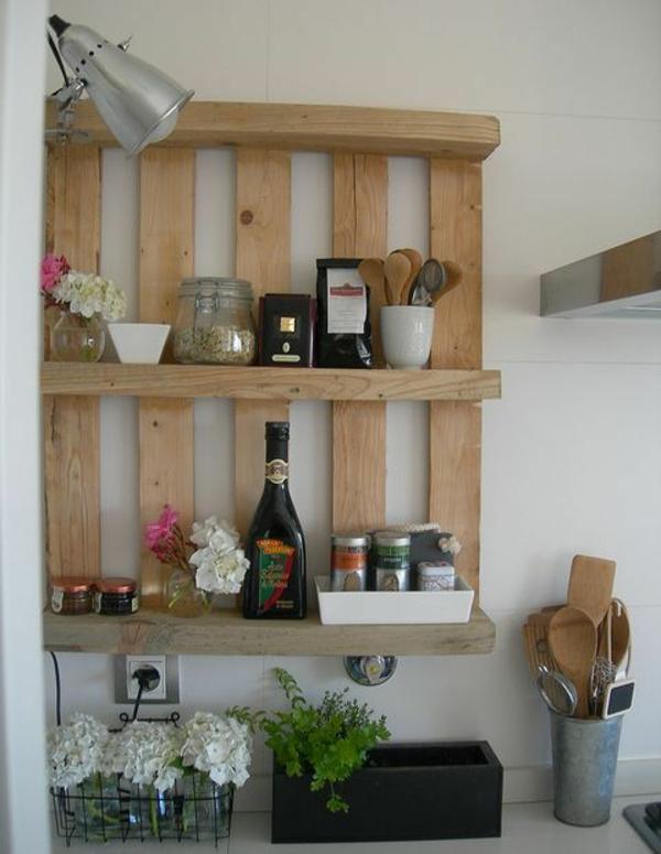 DIY Möbel aus Paletten küchenregal