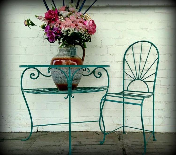 Gartenaccessoires Vintage Stil Gartendekoration vintage gartenmöbel