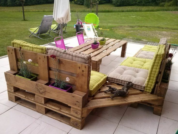 Gartenmöbel Aus Paletten Selber Bauen Und Den Außenbereich Ausstatten ...