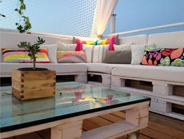 Gartenmöbel aus Paletten lounge möbel europaletten