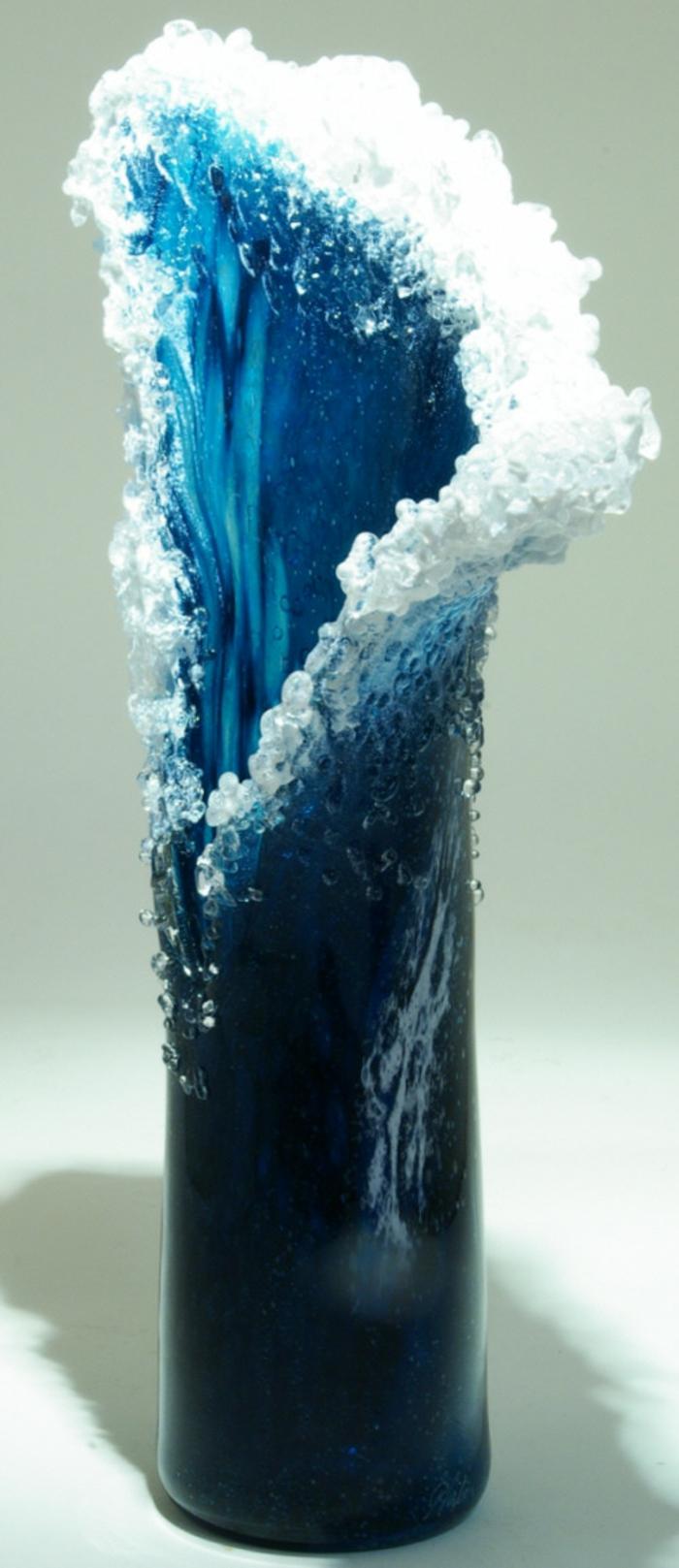 Glaskunst maritime Deko Vasen design Marsha Blaker Paul DeSomma