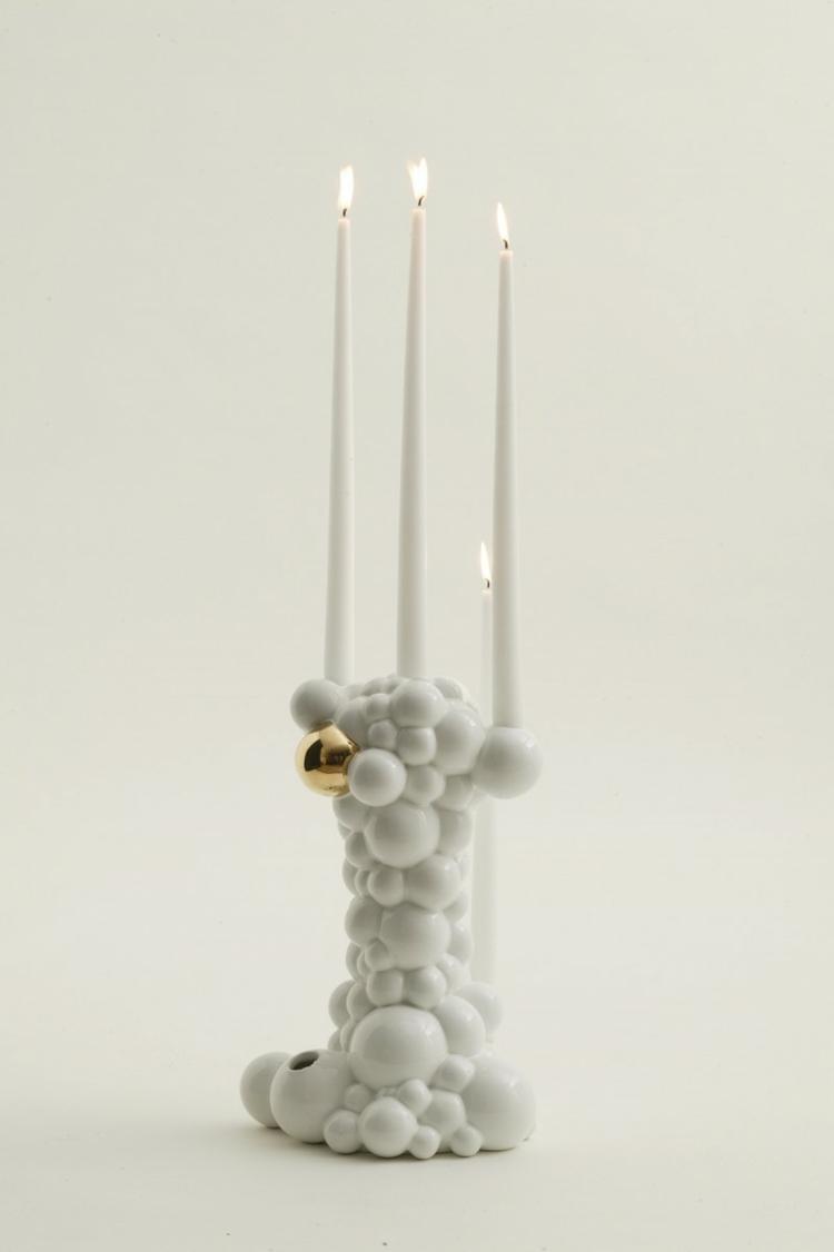 Italienische designermöbel Bosa keramik design kerzenständer