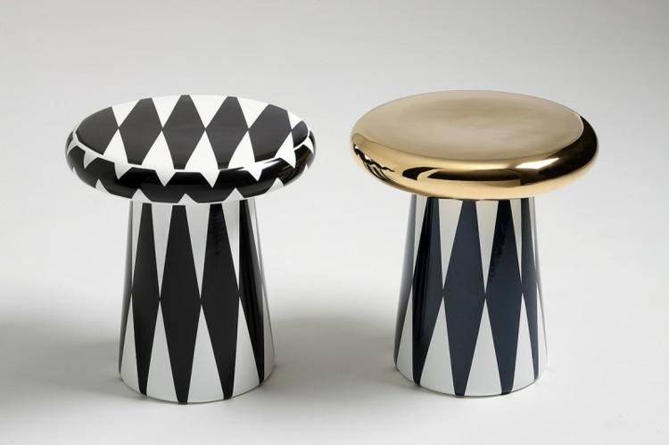 Italienische Möbel Wohnaccessoires Bosa Ceramiche t table schwarz weiß