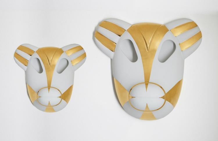 Italienisch Möbel Wohnaccessoires Bosa Ceramiche tiermasken keramik design