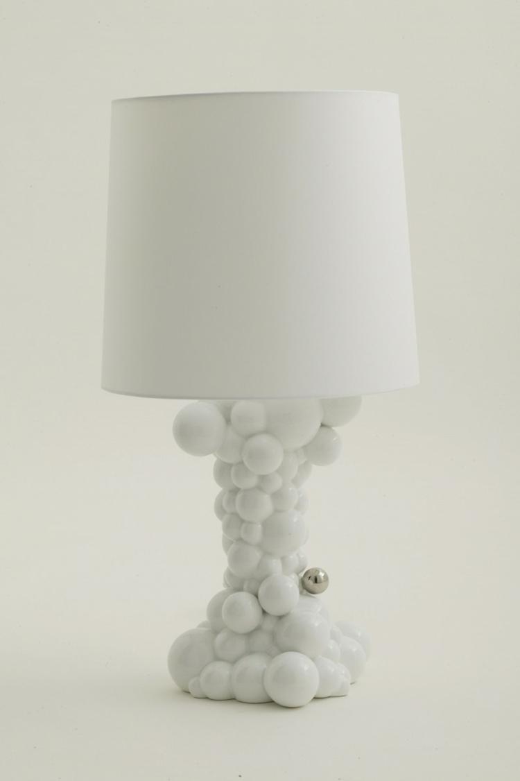 Italienische designermöbel Wohnaccessoires Bosa bubbles tischlampe weiß