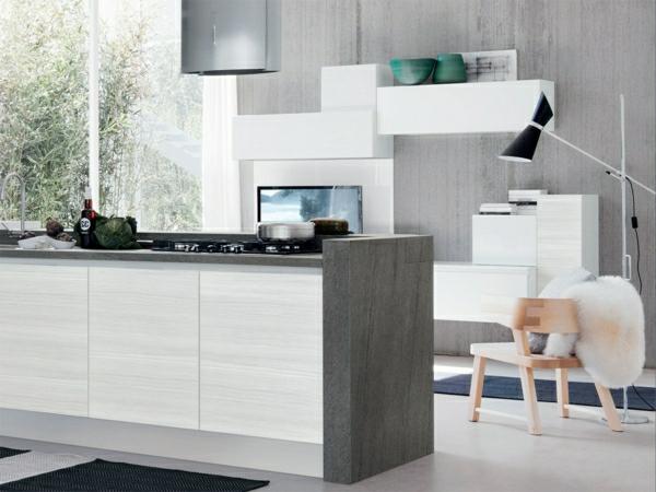 Küchendesign einbauküchen kochinsel minimalistisch