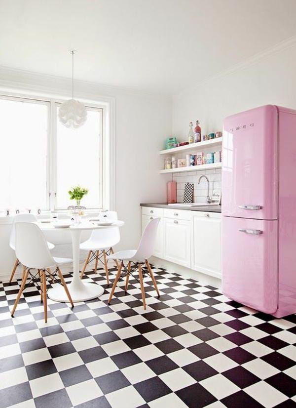 Küchendesign küchen küchengeräte kühlschrank rosa