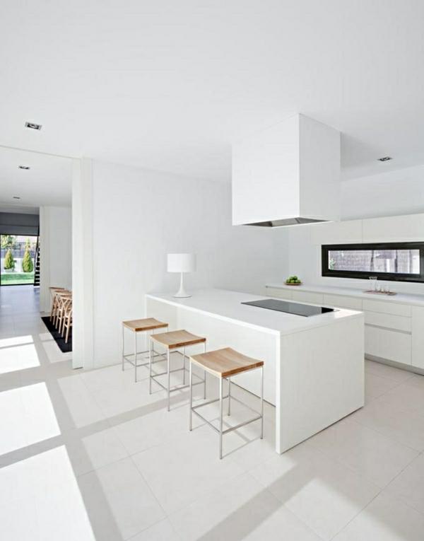 Küchendesign mit Kochinsel küchenblock freistehend weiß einrichtung