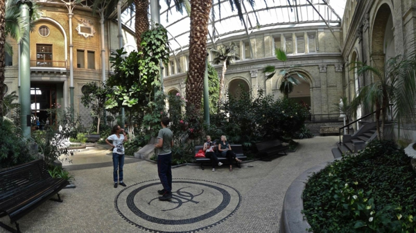 Kopenhagen Sehenswürdigkeiten Carlsberg Glyptotek park palmen