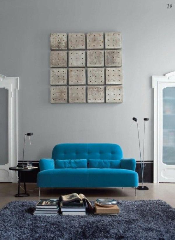 Ligne Roset Sofa designer möbel blau philippe nigro