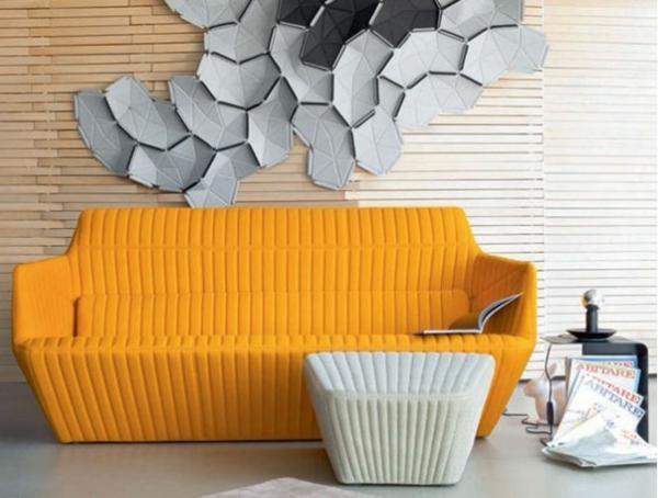Ligne Roset Sofa designer möbel gelb philippe nigro
