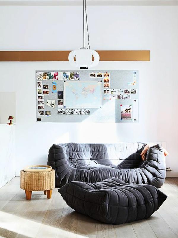 Ligne Roset Sofa designer möbel grau sessel philippe nigro