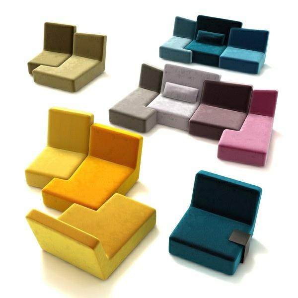 Modular Möbel ein ligne roset sofa lässt ihren wohnraum fröhlicher erscheinen