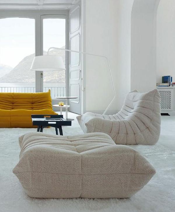 Ligne Roset Sofa designer möbel weiß sessel philippe nigro