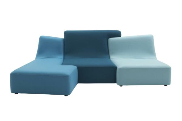 Ligne Roset Sofa modulares sofa blau designer möbel philippe nigro