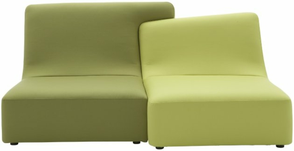 Ligne Roset Sofa modulares sofa grün designer möbel philippe nigro
