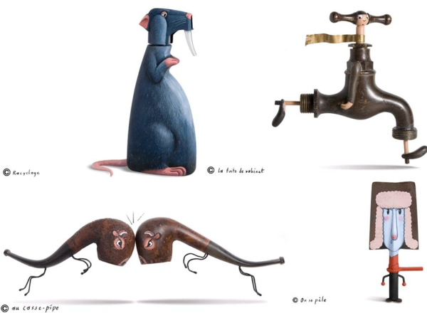Moderne Skulpturen 3d kunst französische Künstler Gilbert Legrand