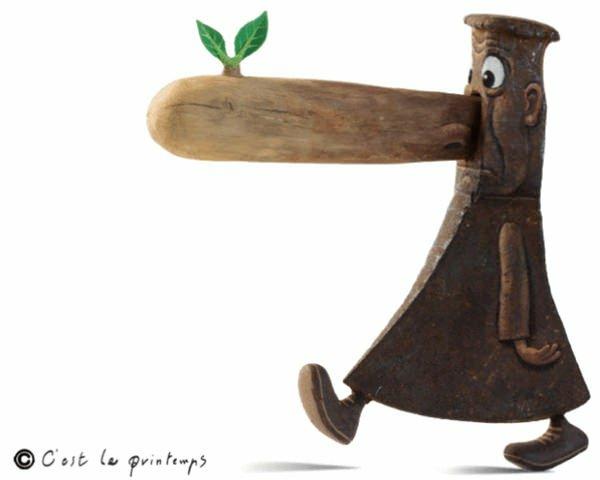 Moderne Skulpturen französische Künstler Gilbert Legrand axt mensch 3d kunst