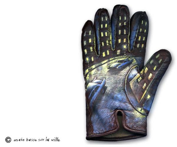 Moderne Skulpturen französische Künstler Gilbert Legrand handschuh bemalen
