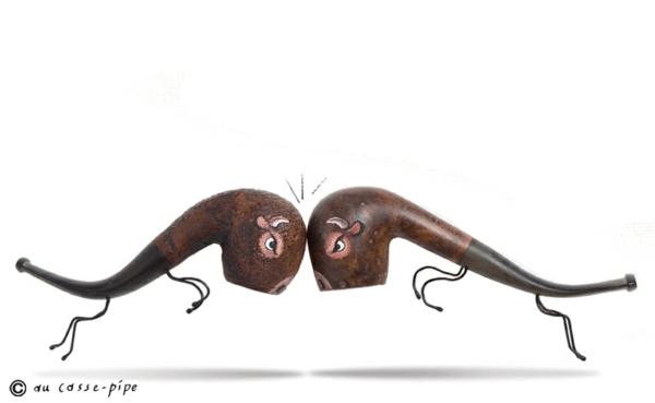 Moderne Skulpturen französische Künstler Gilbert Legrand pfeifen 3d malen