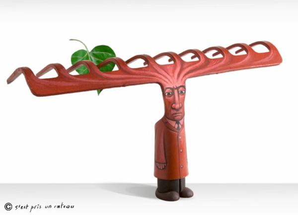 Moderne Skulpturen französische Künstler Gilbert Legrand pflug