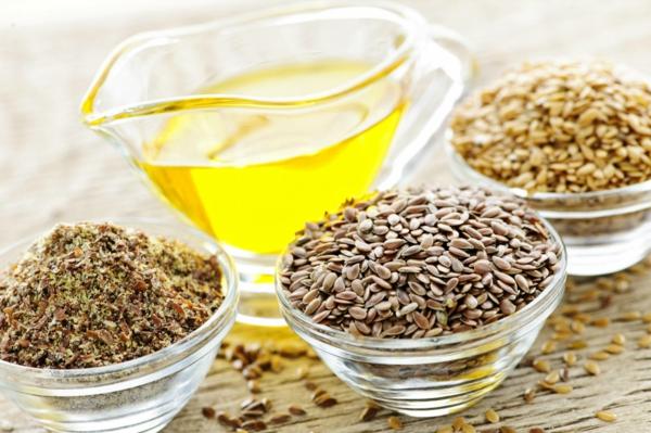 Omega 3 Fettsäuren Omega 6 Fettsäuren leinsamen
