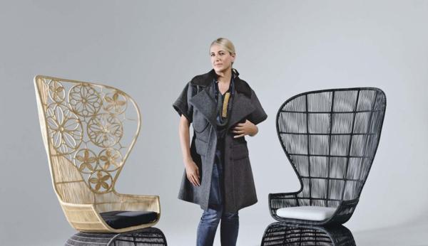 Patricia Urquiola möbeldesigner korbsessel