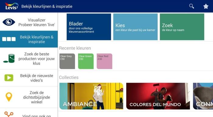 Psychologie der Farben Levis Visualizer wandfarbe bestimmen