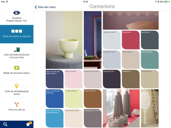 Psychologie der Farben Levis Visualizer wandgestaltung ideen farben