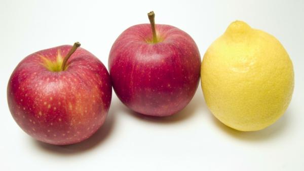 Sternzeichen Krebs gesunde ernährung obst essen äpfel zitrone