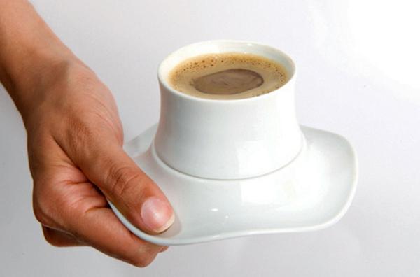 Tasse Kaffee Bilder weiß design mit untertasse