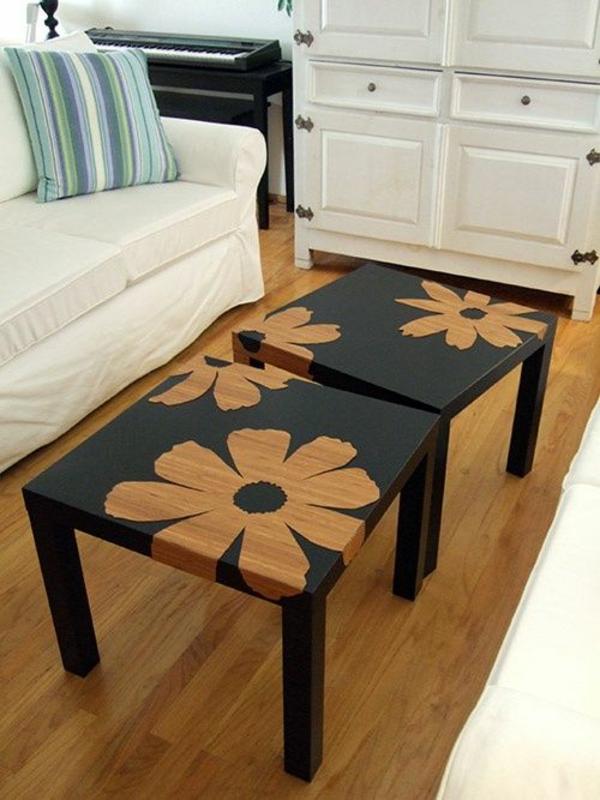alte möbel neu gestalten holz kommode aufpeppen blumenmuster erstellen