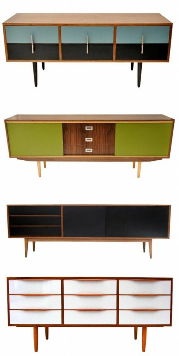 alte möbel neu gestalten holz kommoden retro design