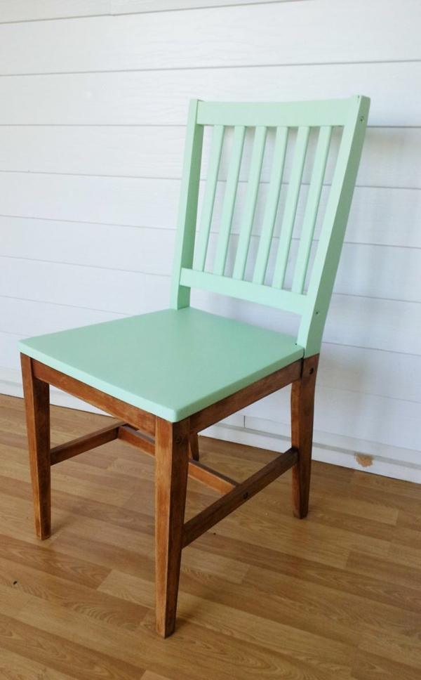 alte möbel neu gestalten holz stühl farbig aufpeppen