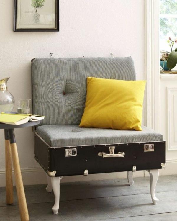 alte möbel neu gestalten koffer sessel selber bauen dekokissen
