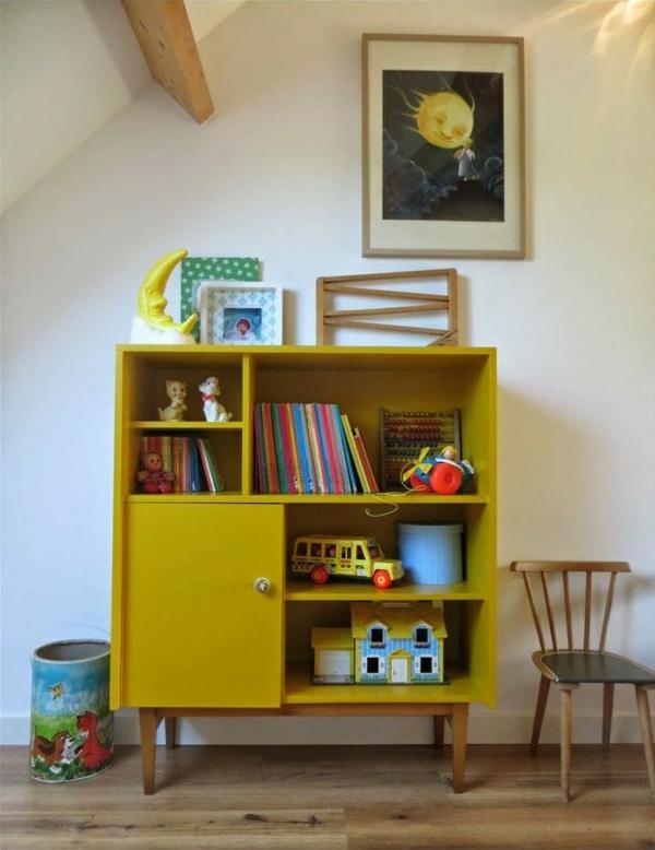 alte möbel neu gestalten kommode umbauen gelb