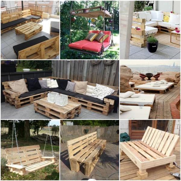 außenmöbel design Gartenmöbel aus Paletten diy projekte
