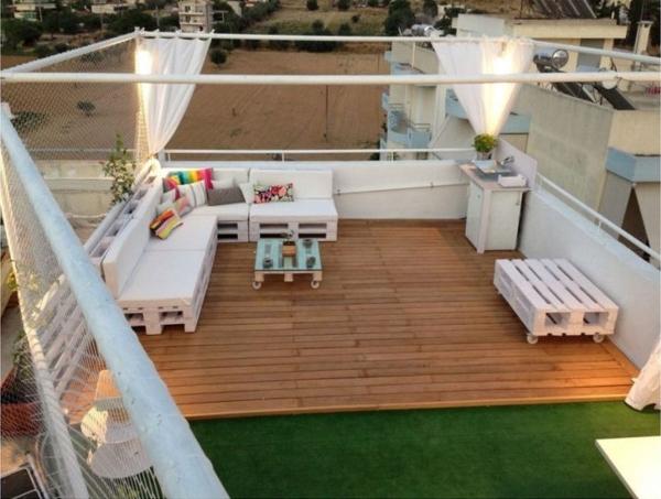außenmöbel design Gartenmöbel aus Paletten terrassenmöbel