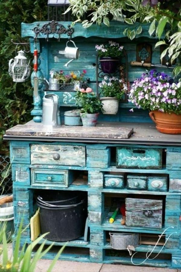 Gartenmobel Mit Aufbewahrung : Gartenmöbel aus Paletten selber bauen und den Außenbereich