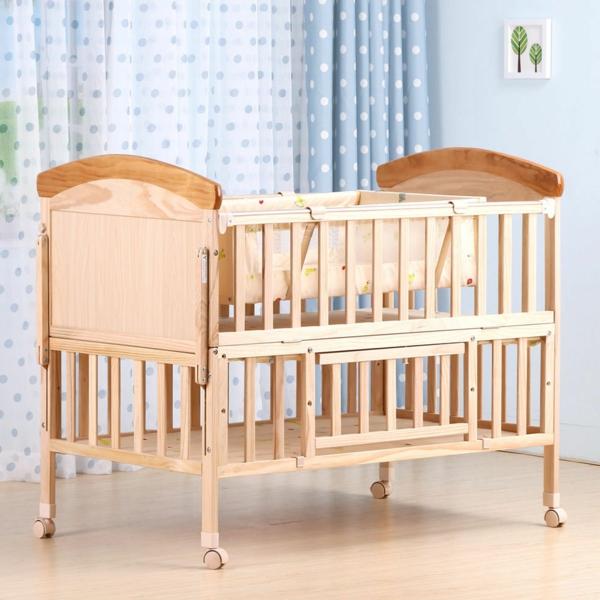 babybett räder luftige frische gardinen babyzimmer