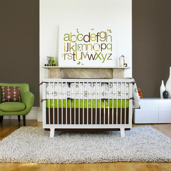 babybettchen design modern kompakt grüner sessel