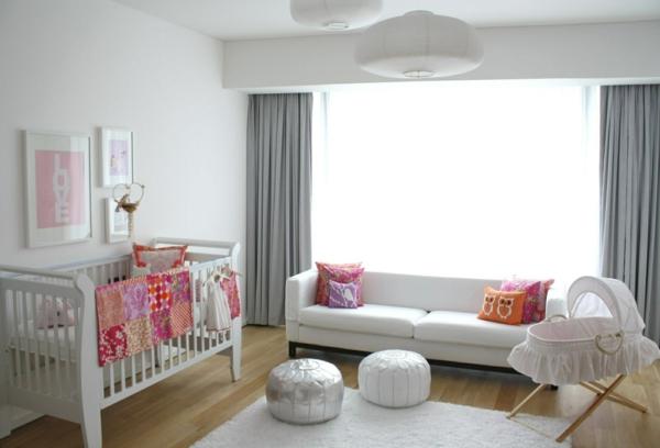 babybettchen design weiß sofa hocker holzboden