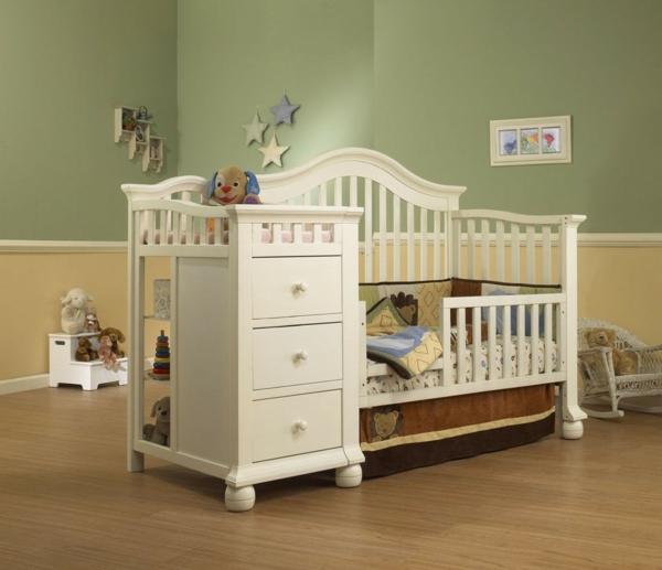 babybettchen funktionales design schubladen regale
